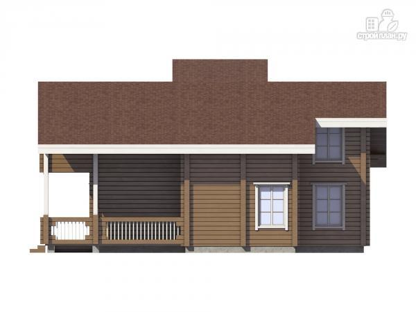 Фото 5: проект дом из клеенного бруса с балконом и террасой