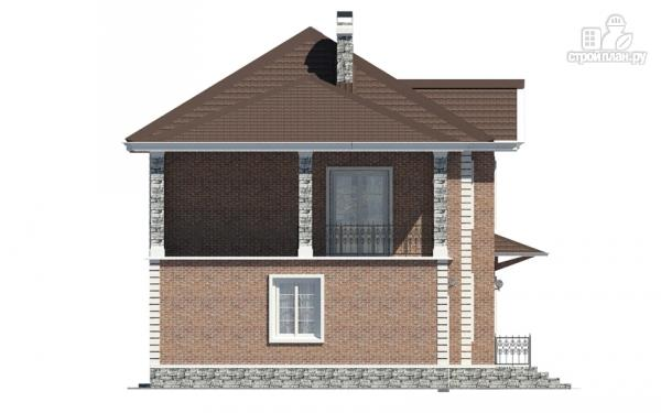Фото 6: проект двухэтажный дом с гаражом и террасой на втором этаже