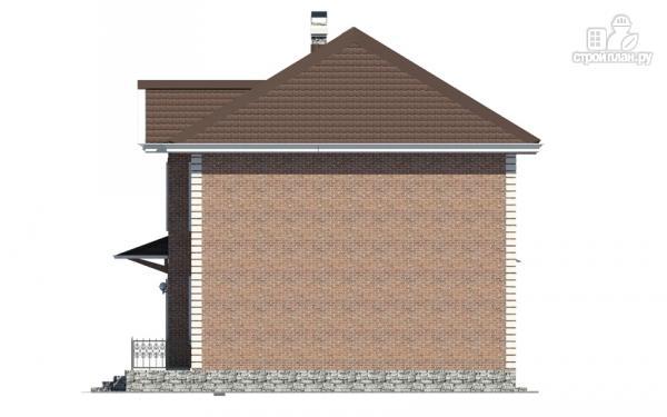 Фото 4: проект двухэтажный дом с гаражом и террасой на втором этаже