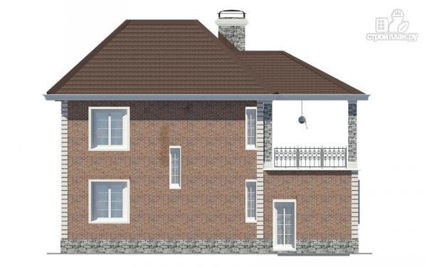 Фото 5: проект двухэтажный дом с гаражом и террасой на втором этаже