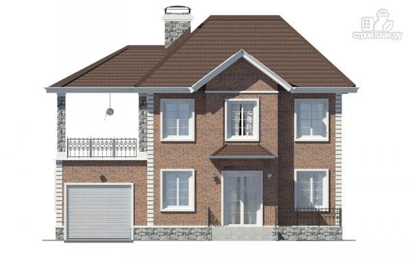 Фото 7: проект двухэтажный дом с гаражом и террасой на втором этаже