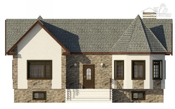 Фото 4: проект одноэтажный дом с эркером в гостиной и спальне