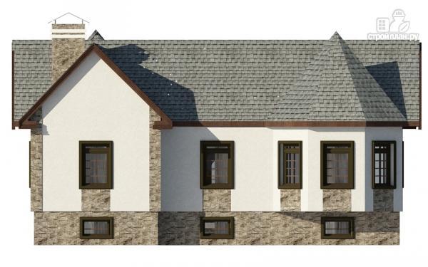 Фото 3: проект одноэтажный дом с эркером в гостиной и спальне