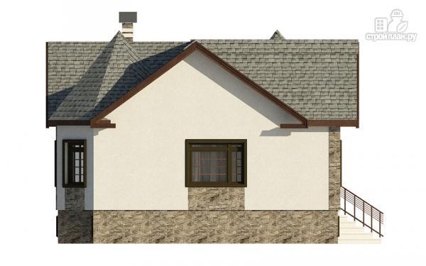 Фото 6: проект одноэтажный дом с эркером в гостиной и спальне