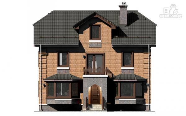 Фото 8: проект двухэтажный дом с балконом и эркерами