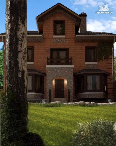 Фото 6: проект двухэтажный дом с балконом и эркерами