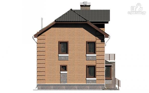 Фото 11: проект двухэтажный дом с балконом и эркерами
