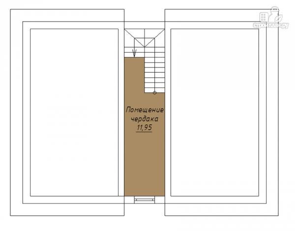 Фото 4: проект двухэтажный дом с балконом и эркерами