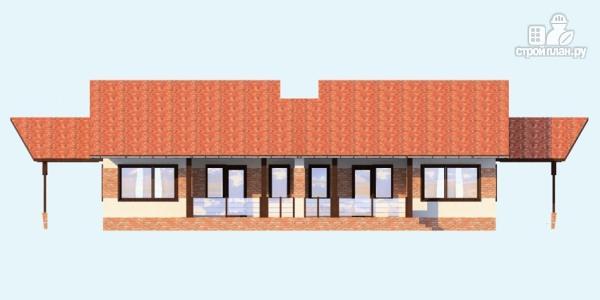 Фото 5: проект одноэтажный спаренный дом с навесами для машин