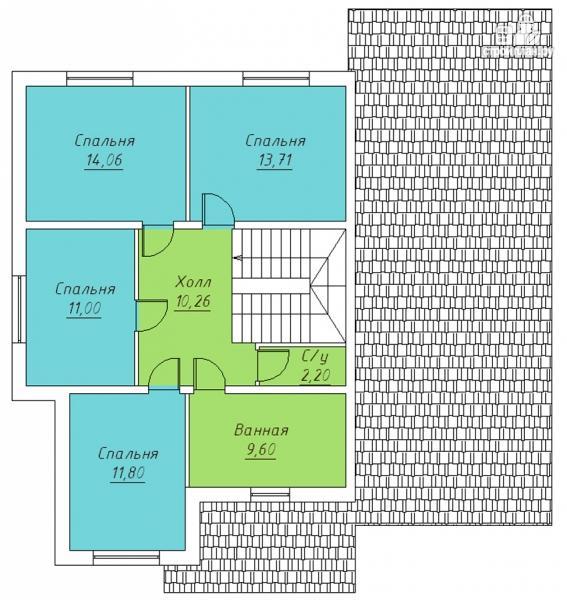 Фото 3: проект двухэтажный дом с террасой и гаражом