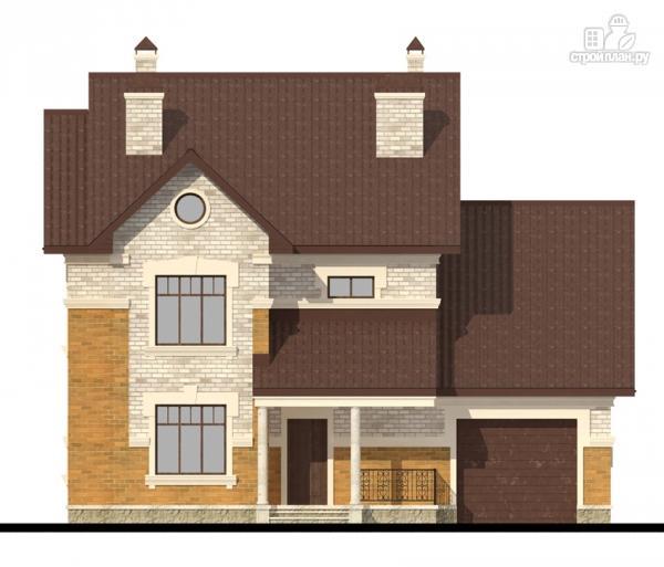 Фото 4: проект двухэтажный дом с террасой и гаражом