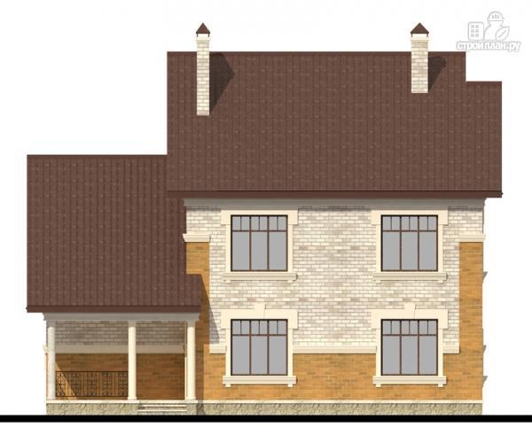 Фото 7: проект двухэтажный дом с террасой и гаражом