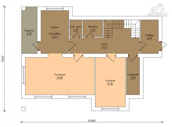 Фото 2: проект двухэтажный дом из газобетона с балконами  и террасой