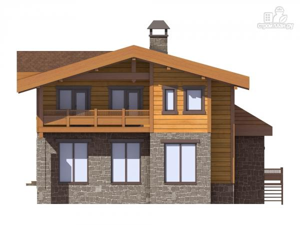 Фото 4: проект двухэтажный дом из газобетона с балконами  и террасой