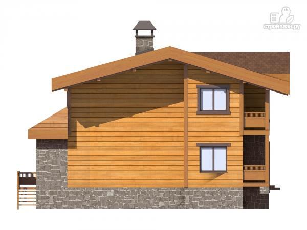 Фото 6: проект двухэтажный дом из газобетона с балконами  и террасой