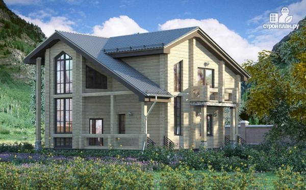 Фото: проект загородный дом с двухсветным эркером