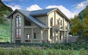 Проект загородный дом с двухсветным эркером