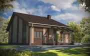 Проект дом с террасой и мансардным этажом