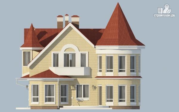 Фото 5: проект дом из керамзитобетона с террасой, балконом, вторым светом и сауной
