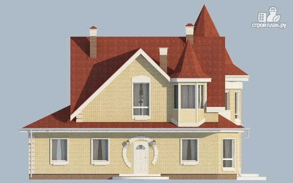 Фото 4: проект дом из керамзитобетона с террасой, балконом, вторым светом и сауной