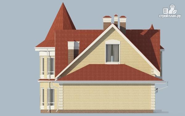 Фото 6: проект дом из керамзитобетона с террасой, балконом, вторым светом и сауной