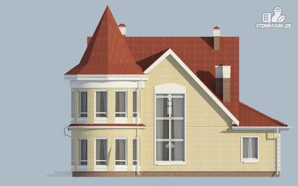 Фото 7: проект дом из керамзитобетона с террасой, балконом, вторым светом и сауной