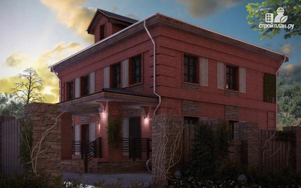 Фото: проект двухтажный дом с террасой