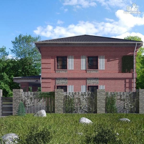 Фото 6: проект двухтажный дом с террасой