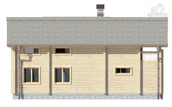 Фото 7: проект деревянный дом с гостиной в два света и камином