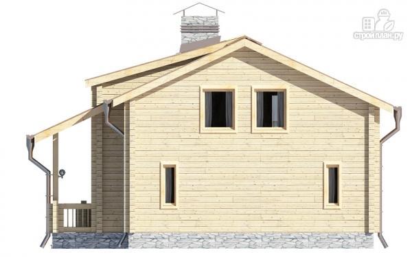 Фото 8: проект деревянный дом с гостиной в два света и камином
