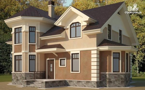 Фото: проект загородный дом с эркерами