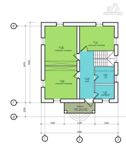 Фото 3: проект двухэтажный дом с балконом и террасой