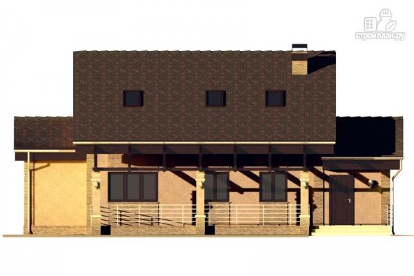 Фото 7: проект дом с террасой и мансардой