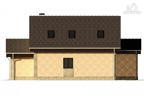Фото 5: проект дом с террасой и мансардой