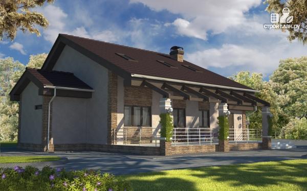 Фото: проект дом с террасой и мансардой