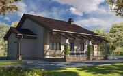 Проект дом с террасой и мансардой