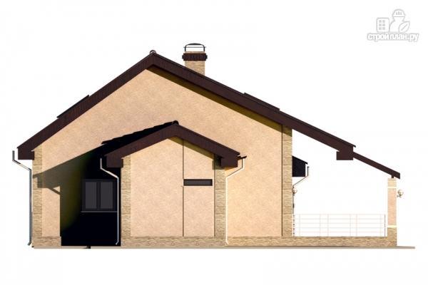 Фото 4: проект дом с террасой и мансардой
