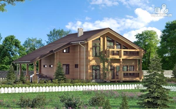Фото: проект дом с крыльцом и навесом для машины