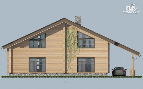 Фото 6: проект дом с крыльцом и навесом для машины