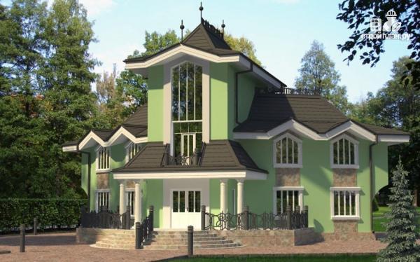 Фото: проект загородная резиденция с большой террасой