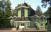 Проект загородная резиденция с большой террасой