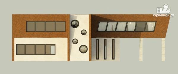 Фото 7: проект дом в современном стиле с террасой и лоджией