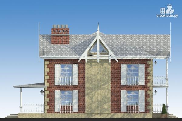 Фото 5: проект двухэтажный дом из газобетона с террасой и камином в кабинете