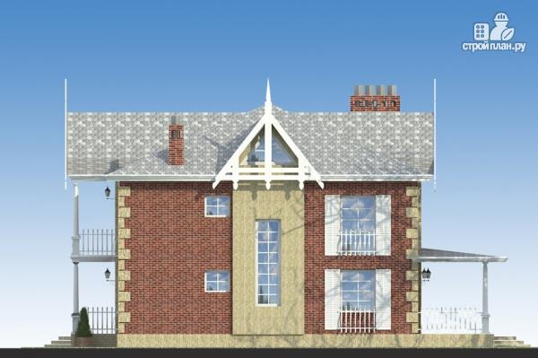 Фото 6: проект двухэтажный дом из газобетона с террасой и камином в кабинете