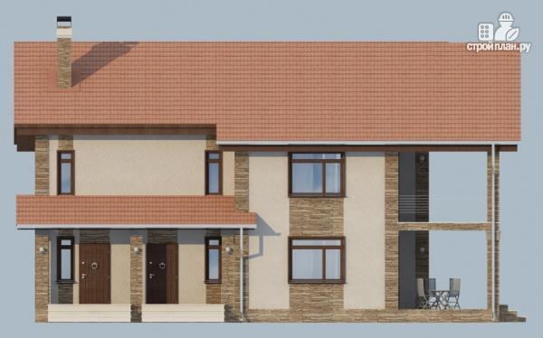 Фото 5: проект дом с балконом, террасой и сауной