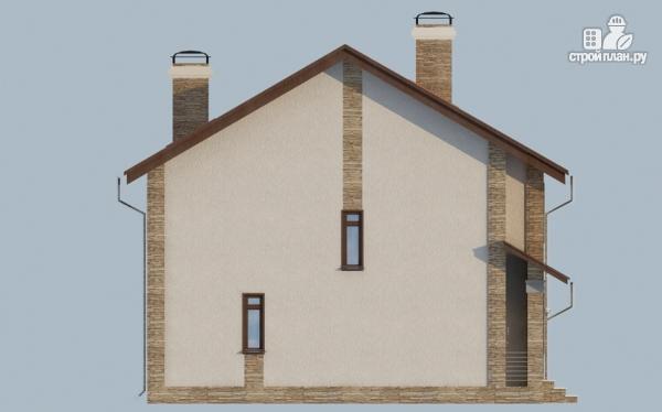 Фото 7: проект дом с балконом, террасой и сауной