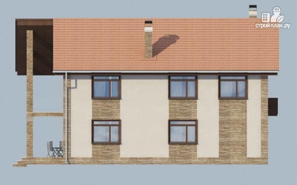 Фото 4: проект дом с балконом, террасой и сауной
