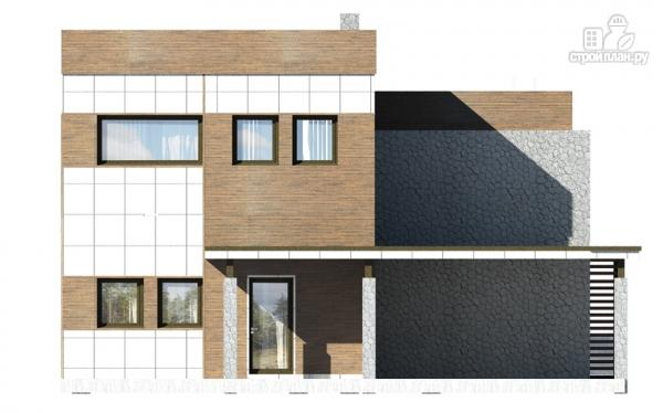 Фото 4: проект дом с балконом, террасой и навесом для машины