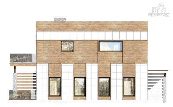 Фото 6: проект загородный дом с плоской крышей и парковочным навесом