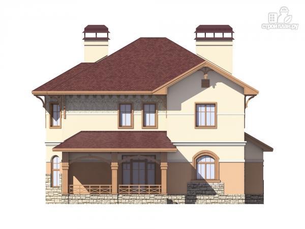 Фото 4: проект двухэтажный дом из газобетона с террасой